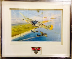 Limited edition/Artist's proof with genuine Iron Cross
